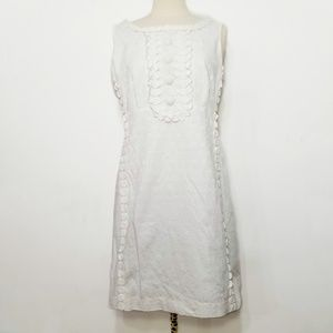 Lilly Pulitzer Jubilee White Lace Beaded Dress 10